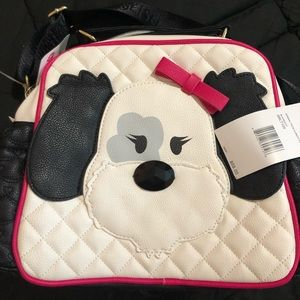 NWT Betsey Johnson Animal Face Lunch Tote Dog